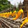 Row of Sacred Buddha in Ayutthaya